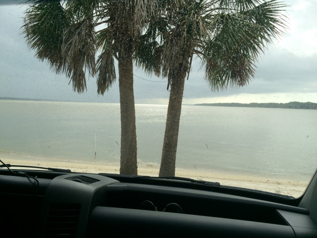 """One of our 1st weekends """"practicing"""" for the real thing. Our campsite is steps from the shore at Indian Pass, FL."""
