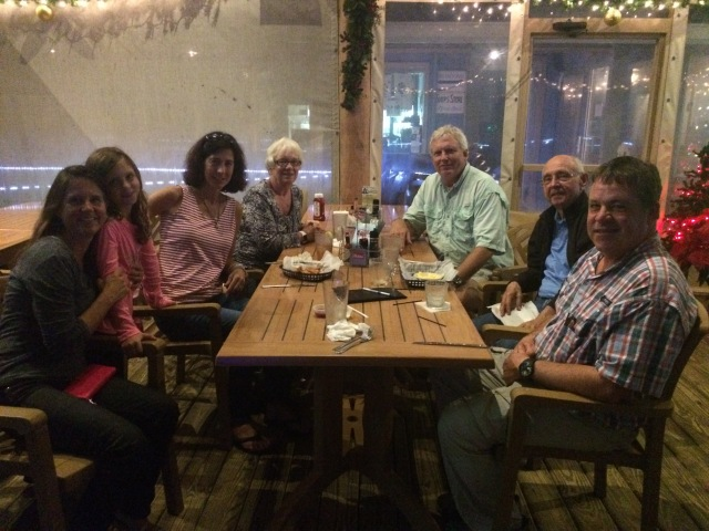 Bon Voyage Dinner at Mad Anthony's with good friends Fred, Kay, Danielle, Ken and Kaylee prior to departure. Danielle, Ken, and Kaylee are on a similar trip--sailing for a year! We're counting on Fred and Kay to join us at some point along the way in the coming year.